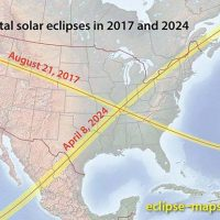 USA map showing path of solar eclipse